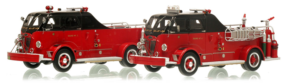 1:50 scale museum grade replicas of CFD Autocar Squads 3 & 4