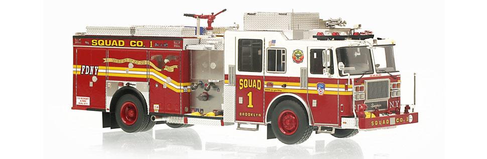 FDNY Squad 1 replica features razor sharp accuracy