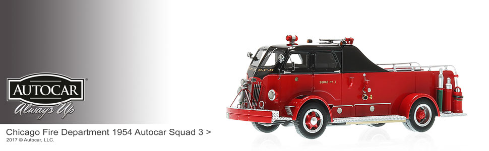 Shop museum grade Autocar scale models including CFD Squad 3!