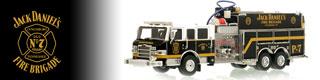 Jack Daniel's Fire Brigade scale model fire trucks.
