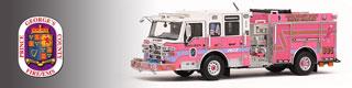 PGFD scale model fire trucks