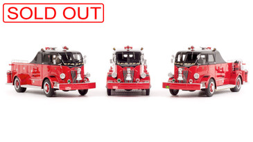 Chicago Fire Department 1954 Autocar Squad 3-Piece Set