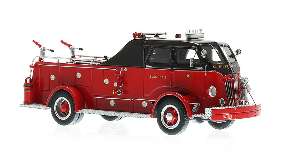 Chicago Fire Department 1954 Autocar Squad 4 museum grade replica