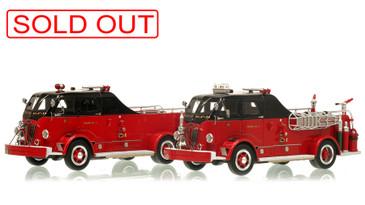 Chicago Fire Department 1954 Autocar Squad 2-Piece Set