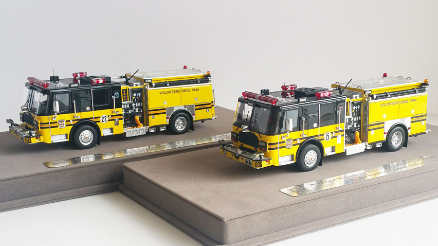 1:50 scale museum grade replicas of Ashburn VFRD Engines 606 and 622