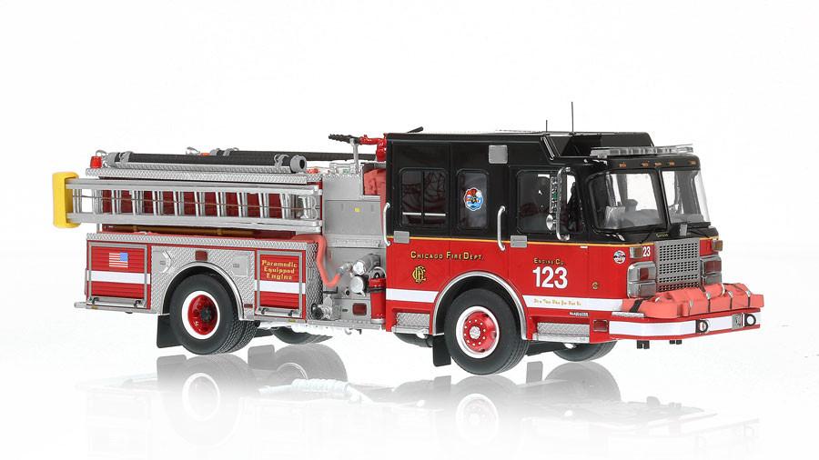 1:50 scale museum grade replica of Chicago Engine 123