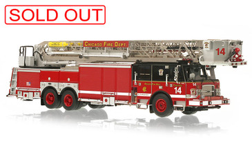 1:50 scale museum grade replica of CFD Tower Ladder 14
