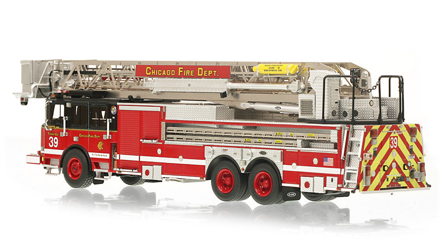 1:50 scale museum grade replica of CFD Tower Ladder 39
