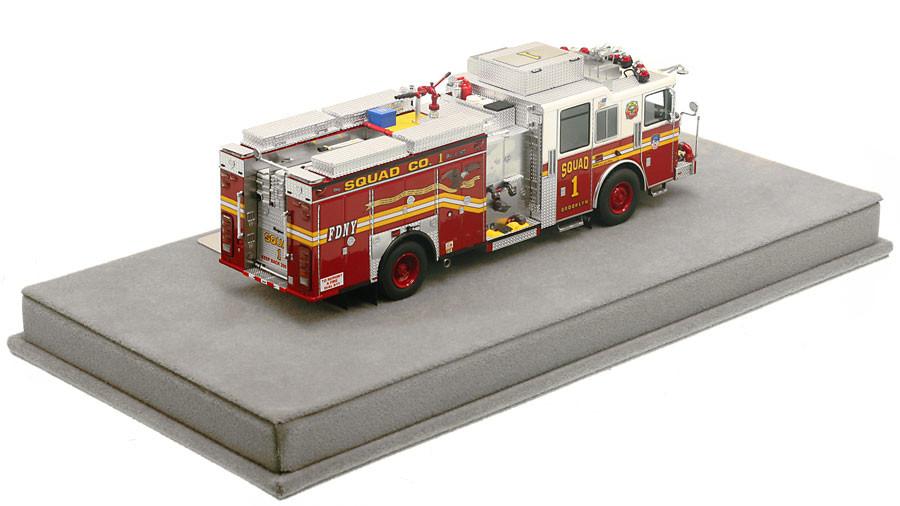 1:50 museum grade scale model of FDNY Squad 1