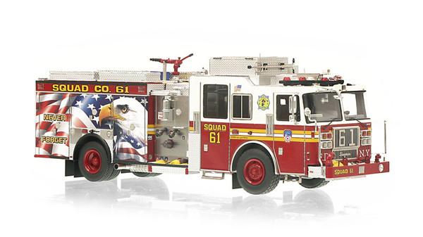 1:50 museum grade scale model of FDNY Squad 61