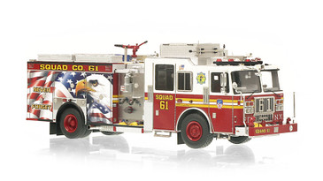 1:50 museum grade scale model of FDNY Squad 61