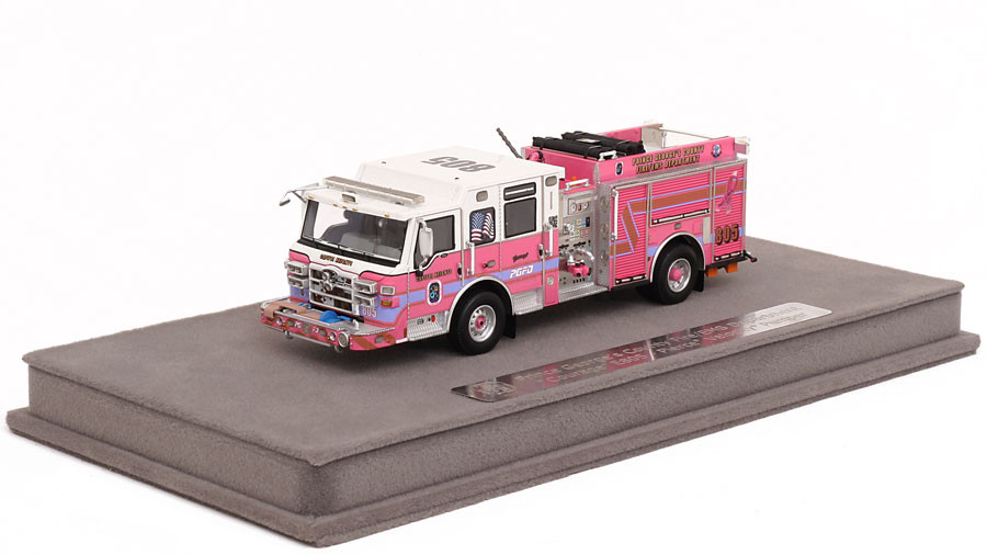 1:50 museum grade scale model of PGFD Courage E805