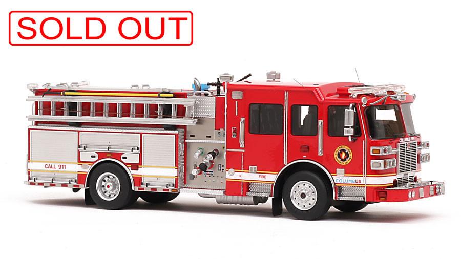 1:50 Scale Columbus Division of Fire Sutphen Monarch Engine