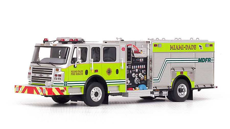 1:50 Scale Museum grade replica of MDFR Rosenbauer Commander Pumper