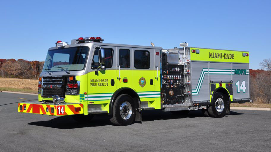 Miami-Dade Fire Rescue Rosenbauer Engine