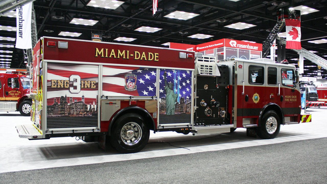 Miami-Dade Fire Rescue Engine 3 at FDIC 2015