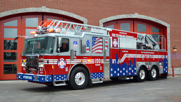 Fire Department City of New York #FDNY150 Ferrara 100' Ladder