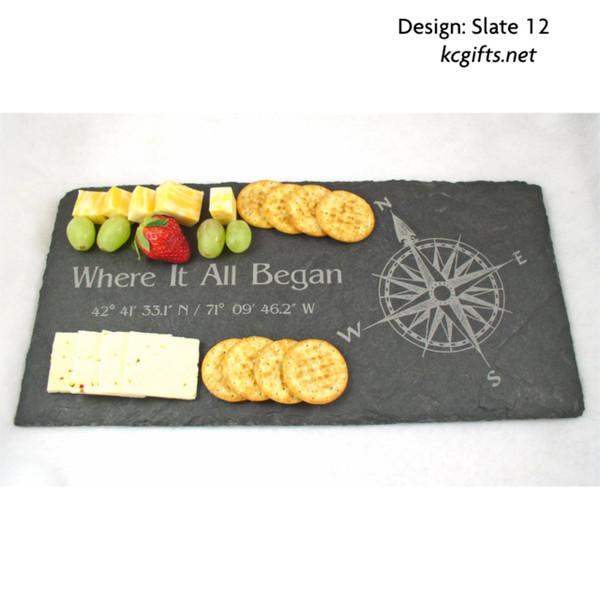 engraved slate tray engraved photograph slate cheese board wedding photo