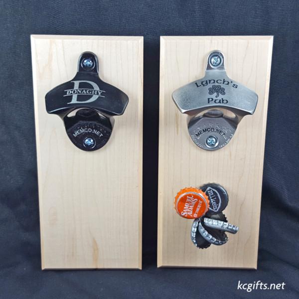 best man gift magnetic engraved bottle opener stainless steel or black free - Magnetic Bottle Opener