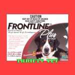 Frontline Plus Flea & Tick for Dogs 89 to 132 lbs (6 Months)