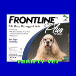 Frontline Plus Flea & Tick for Dogs 23 to 44 lbs (3 Months)