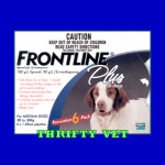 Frontline Plus Flea & Tick for Dogs 23 to 44 lbs (6 Months)