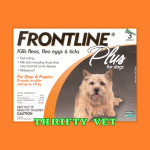 Frontline Plus Flea & Tick for Dogs up to 22 lbs (3 Months)