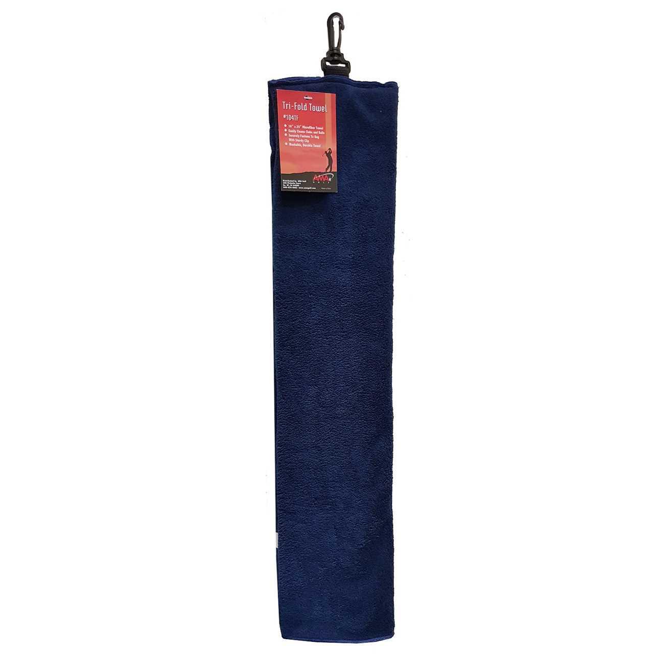 Ama Golf Tri Fold Towel Navy