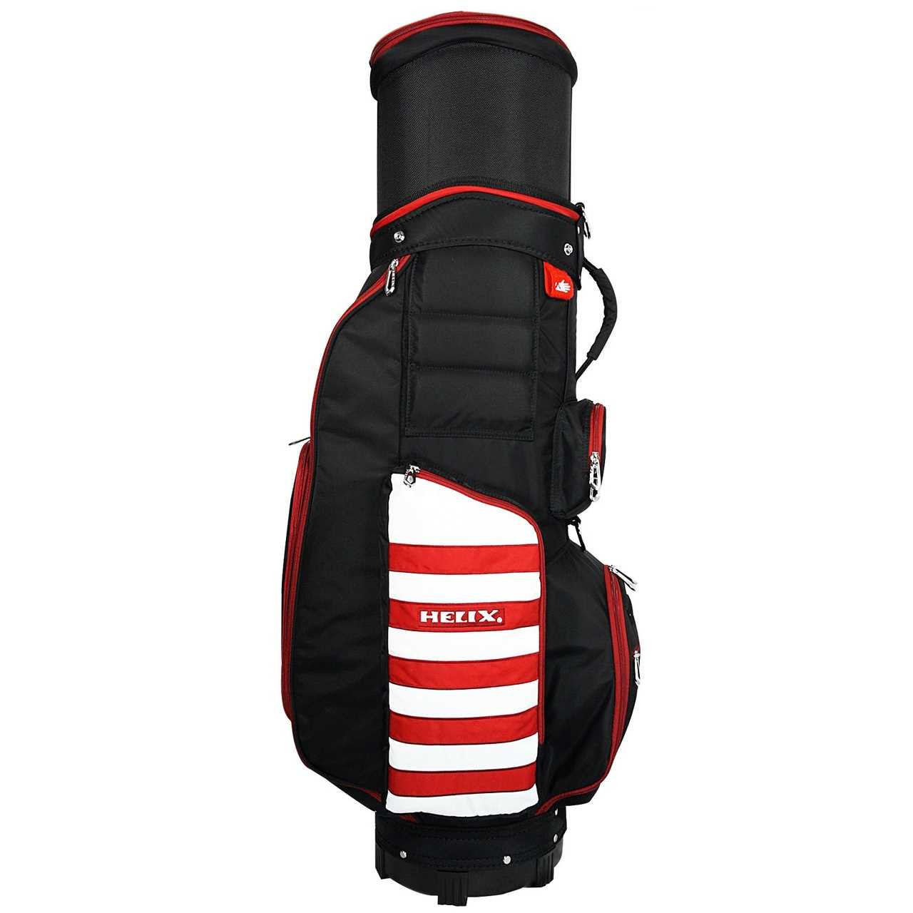 helix golf signature travel series 3in1 cart bag blackred