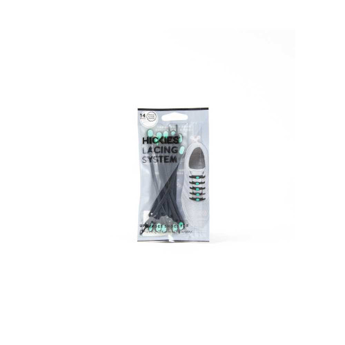 Hickies No-Tie Elastic Shoelaces - Black/Mint