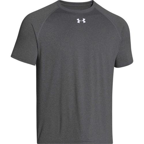 Under armour men 39 s locker shortsleeve t shirt carbon for Do under armour shirts run small