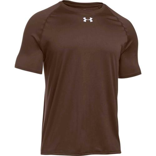 Under armour men 39 s locker shortsleeve t shirt cleveland for Under armour brown t shirt