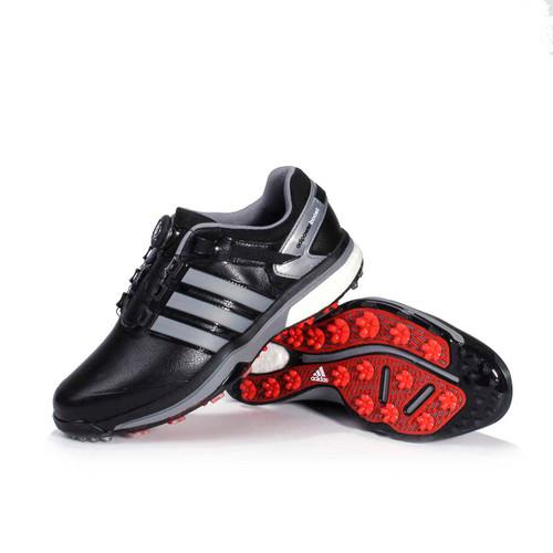 Adidas Uomini Adipower Impulso Boa Scarpe Da Golf In Nero / Ferro