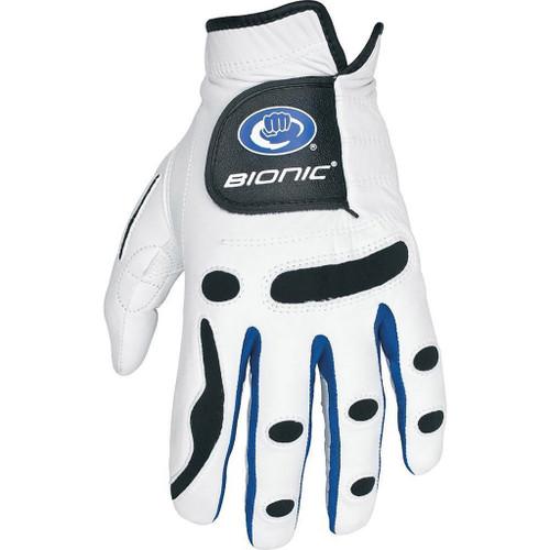 Bionic PerformanceGrip Golf Glove Left Hand Regular - White/Blue Trim