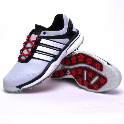 adidas CLOSEOUT adipower Boost Men's Golf Shoes - Grey/Navy/Red