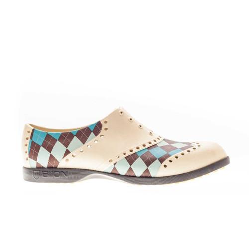 Biion Oxford Pattern Unisex Golf Shoes - Argyle
