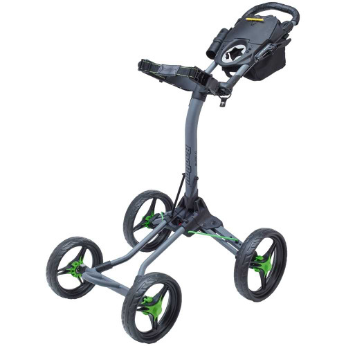 Bag Boy Quad XL 4-Wheel Golf Push Cart (Battleship Gray/Lime)