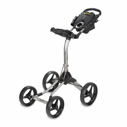 Bag Boy Quad XL 4-Wheel Golf Push Cart - Silver/Black