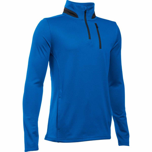 Under Armour Boys' Golf 1/4 Zip Pullover - Ultra Blue/Black