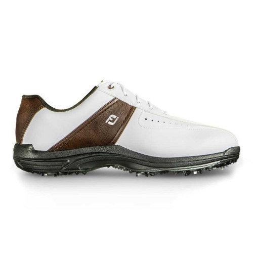 FootJoy CLOSEOUT GreenJoys Men's Golf Shoes - White/Brown