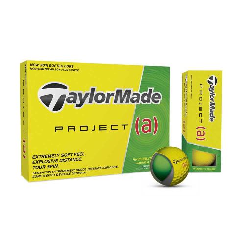 TaylorMade Project (a) Golf Balls - 1 DZ - Hi-Visibility Yellow