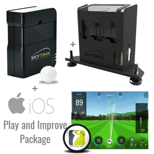 SkyTrak Golf Launch Monitor + Metal Case + Play and Improve Plan