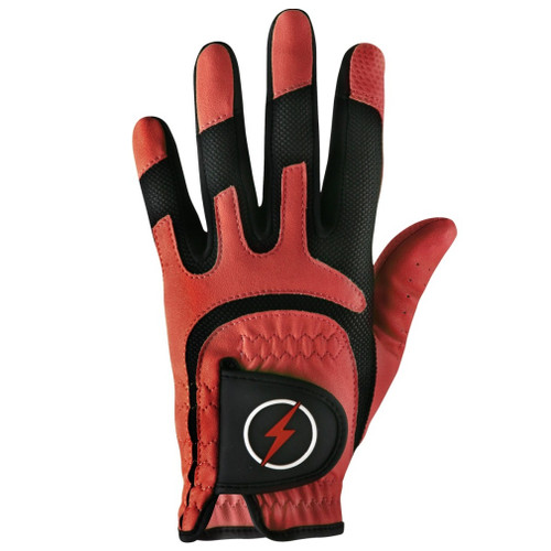 PowerBilt Men's One-Fit Golf Glove - Red