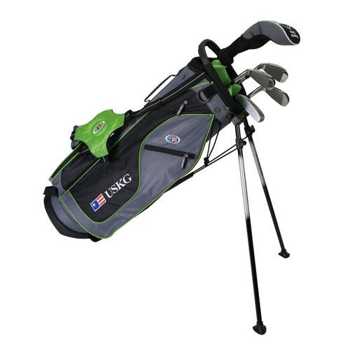 "US Kids Ultralight 5-Club Carry Bag Set - RH - 57"" Green"