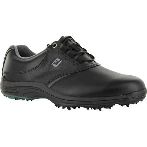 FootJoy CLOSEOUT GreenJoys Men's Golf Shoes - Black/Charcoal