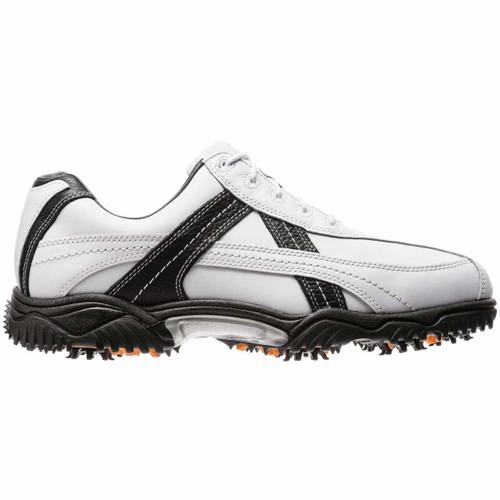 FootJoy CLOSEOUT Contour Series Contrast Men's Golf Shoes - White/Black