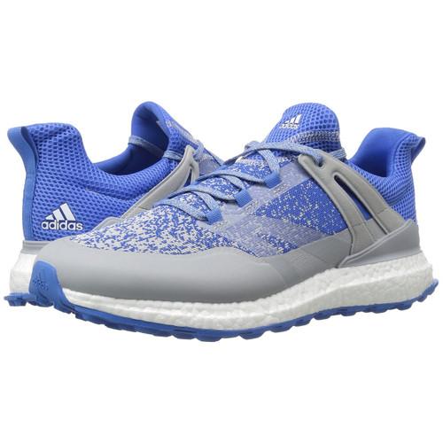 adidas Crossknit Boost Men's Spikeless Golf Shoes - Onix/Blast Blue/White