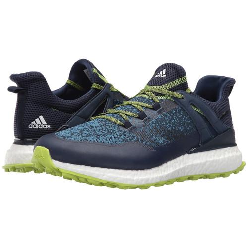 adidas Crossknit Boost Men's Spikeless Golf Shoes - Collegiate Navy/Solar Slime/White