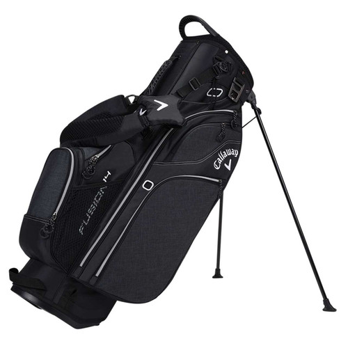 Callaway 2017 Fusion 14 Golf Stand Bag - Black/Silver/White