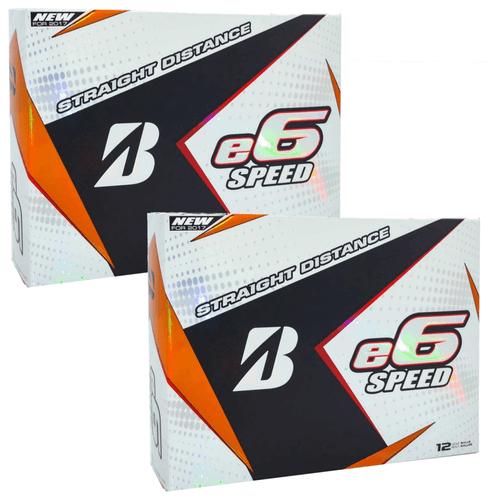 Bridgestone e6 SPEED White Golf Balls Two Dozen Promotion